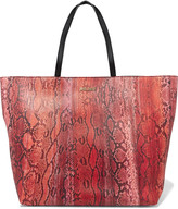 Just Cavalli Snake-effect faux leather tote