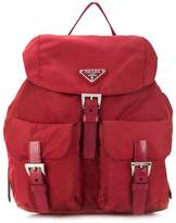 Prada Pre Owned nylon buckled backpack