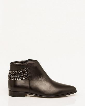 Le Château Italian-Designed Leather Ankle Boot