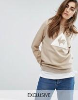Le Coq Sportif Exclusive To ASOS Flocked Logo Sweatshirt In Camel