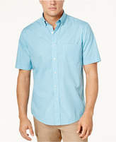 Club Room Men's Garment-Dyed Tile-Print Shirt, Created for Macy's