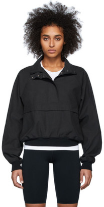 John Elliott Black Half-Zip Sail Jacket