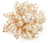 Van Cleef & Arpels 18K Yellow Gold & 12.00ct Diamond Flower Brooch