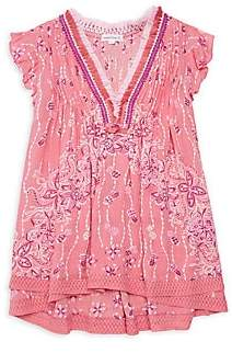 Poupette St Barth Little Girl's & Girl's Sasha Lace-Trimmed Mini Dress