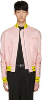Haider Ackermann Pink Linen Bomber Jacket