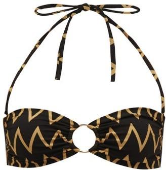 Melissa Odabash Evita Zigzag Bandeau Bikini Top - Black Multi