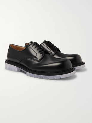 Bottega Veneta Clear Sole Polished-Leather Derby Shoes