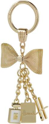 Harrods Bow and Engraved Charms Keyring