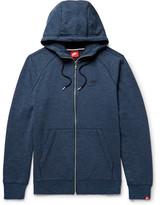 Nike Sportswear Legacy Loopback Cotton-jersey Zip-up Hoodie - Storm blue