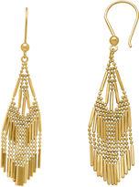 FINE JEWELRY 14K Yellow Gold Diamond-Cut Beaded Mesh Drop Earrings