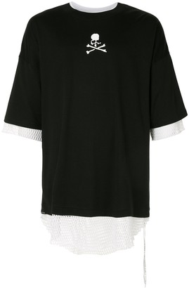 Mastermind Japan layered skull T-shirt