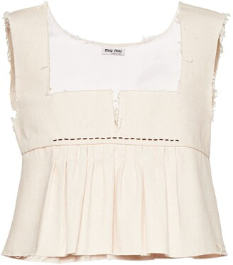 Miu Miu Cropped Tank Top