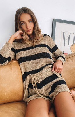 Beginning Boutique Love Game Knit Set Mocha Stripe