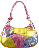 Casadei Metallic Tricolor Shoulder Bag
