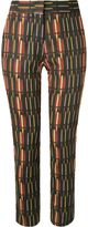 Andrea Marques mid-rise printed straight trousers