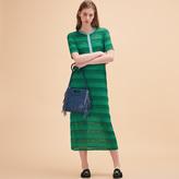 Maje Long knitted string dress