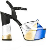 Saint Laurent Candy 80 bow sandals - women - Goat Skin/Leather - 37
