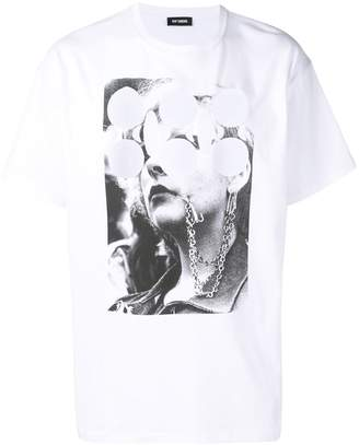 Raf Simons face and pattern T-shirt