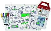 Modern Twist Kids Mark-Mat Silicone Coloring Placemat with 8 Dry-Erase Markers, Monsters ...
