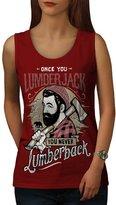 Once You Lumberjack Never Back Women XXL Tank Top | Wellcoda