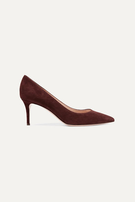 Gianvito Rossi 70 Suede Pumps - Chocolate