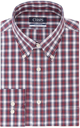 Chaps Men's Regular Fit Non Iron Stretch Button-down Collar Dress Shirt