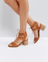Call it SPRING Edaliwia Tan Mid Heeled Sandals