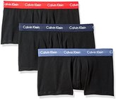 Calvin Klein Men's 3 Pack Cotton Stretch Low Rise Trunk, Black/Regal Red/Lynx Blue/Rainstorm, Small