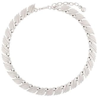 Susan Caplan Vintage 1960s Trifari Leaf Link necklace