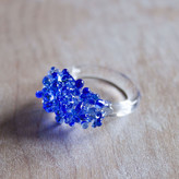 Urban Revisions Urban-Revisions Glass Cluster Ring Blue