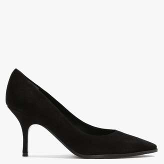 Kennel + Schmenger Camille Black Suede Court Shoes