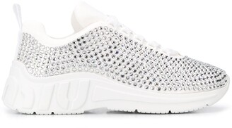 Miu Miu Crystal-Embellish Sneakers