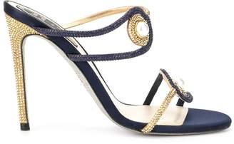 Rene Caovilla Spilla satin sandals