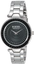 Versus By Versace Women's SQ1060015 Sertie Stainless Steel Bracelet Watch with Black Dial