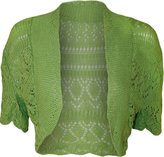 ZJ Clothes Women Ladies Crochet Knitted Shrug Cardigan Bolero Sweater
