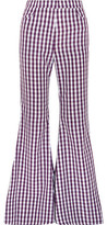 House of Holland Gingham Poplin Flared Pants