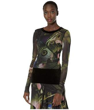 Fuzzi Long Sleeve Butterfly Top with Chenille Detail
