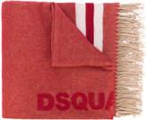 DSQUARED2 tassel-trimmed logo scarf