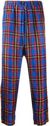 Pierre Louis Mascia Tartan Print Loose Fit Trousers