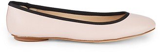 Karl Lagerfeld Paris Leather Ballet Flats