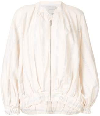 Lee Mathews Madox stripe bomber jacket