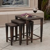 Christopher Knight Home Outdoor Wicker Nested Tables (Set of 3)