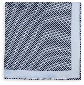 Brioni Square Graphic Silk Pocket Square