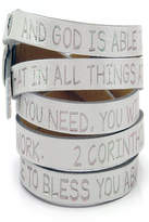 GOOD WORK(S) Leather Inspirational Bracelet