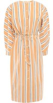 Brock Collection Striped Crinkled Cotton-blend Poplin Dress