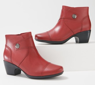Clarks Collection Leather Heeled Ankle Boots - Emily Calle