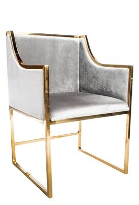 Almyra Upholstered Dining Chair (Set of 2) Mercer41 Color: Gold