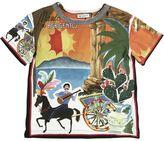 Dolce & Gabbana Agrigento Printed Cotton Jersey T-Shirt