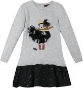 Catimini Girls Fluffy Bird Dress