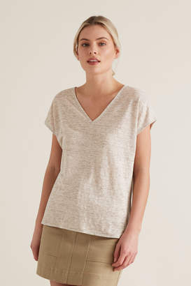 Seed Heritage V Neck Linen Tee